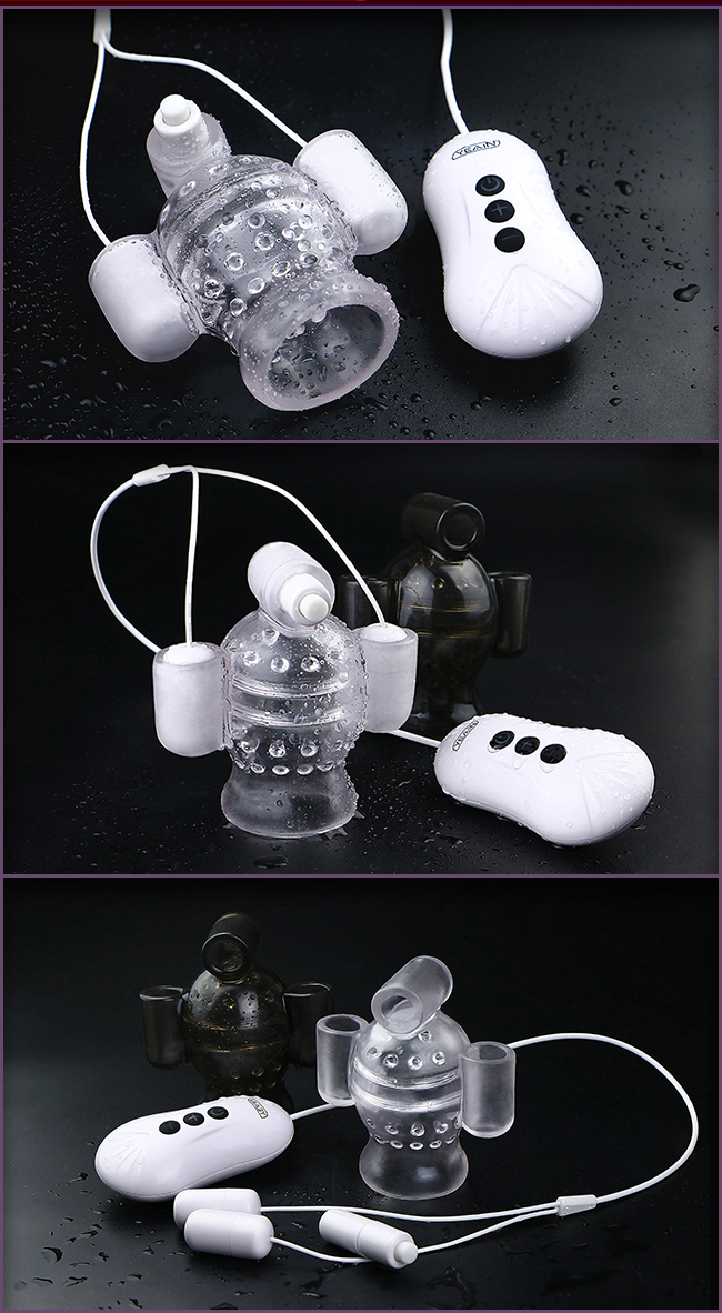 海陸空 11頻三面刺激龜頭刺激訓練器-透明